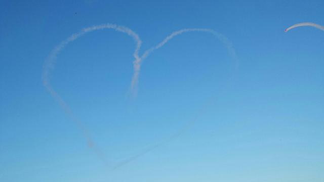 Heart in the sky (taken by him)